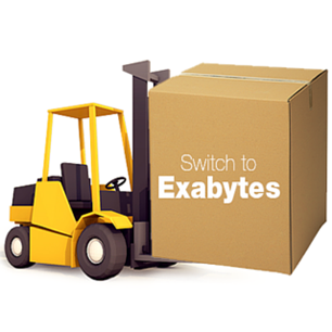 Switch to Exabytes Today